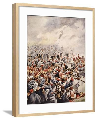 Simultaneously Followed the Levelled Bayonets of Suchet's Division--Framed Art Print
