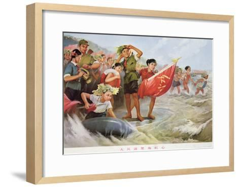 Refining the Revolutionary Spirit in Strong Wind and Waves--Framed Art Print