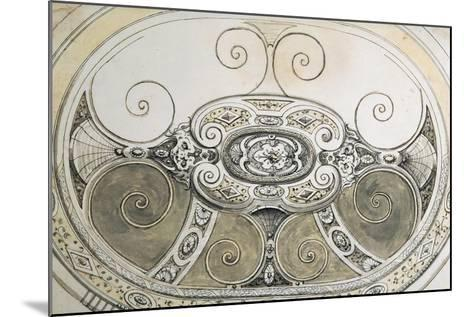 Preparatory Study for Oval Silver Basin with Bands of Geometric--Mounted Giclee Print