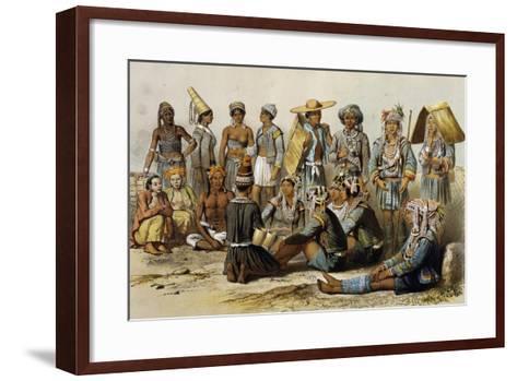 Mixed Populations from Kingdoms of Xieng Tong and Xieng Hong--Framed Art Print