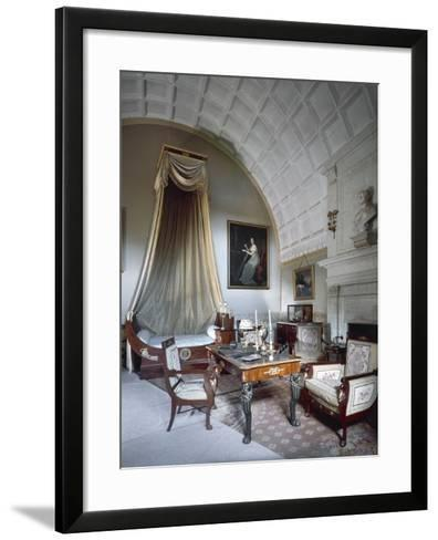 Napoleon I's Bedchamber, with Maria Luisa of Parma's Bust on Fireplace--Framed Art Print