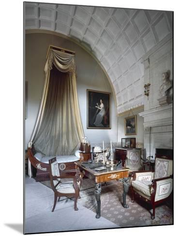 Napoleon I's Bedchamber, with Maria Luisa of Parma's Bust on Fireplace--Mounted Photographic Print