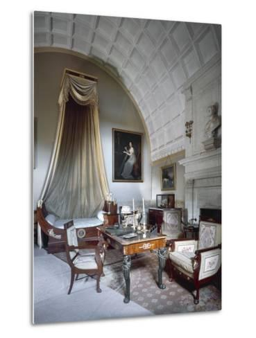 Napoleon I's Bedchamber, with Maria Luisa of Parma's Bust on Fireplace--Metal Print