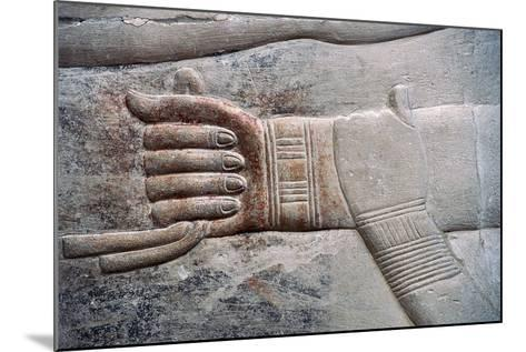 Relief of Wife's Gesture of Placing Her Hand on Her Husband's Arm--Mounted Photographic Print