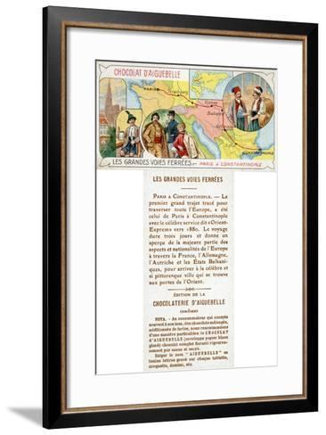 The Orient Express Railway Line from Paris to Constantinople--Framed Art Print