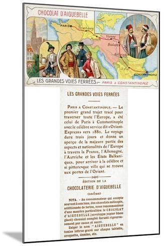 The Orient Express Railway Line from Paris to Constantinople--Mounted Giclee Print