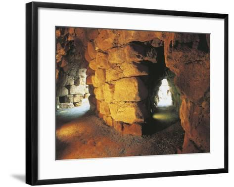 Italy, Archaeological Complex of Nuraghe Sant'Antine or Sa Domo De Su Re--Framed Art Print