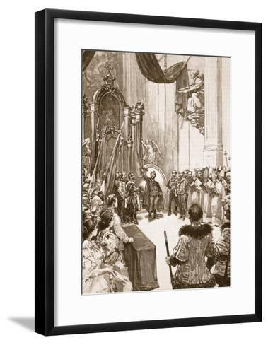 Coronation of the Emperor of Austria as King of Hungary--Framed Art Print