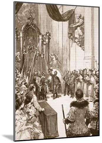 Coronation of the Emperor of Austria as King of Hungary--Mounted Giclee Print