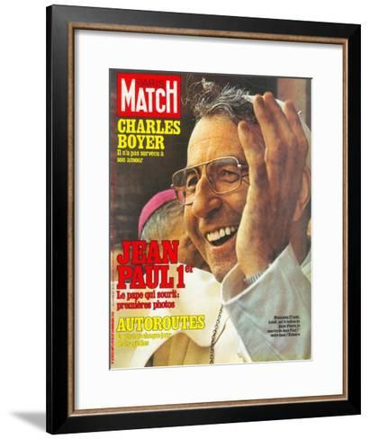 Pope John Paul I Greets the Crowd in St. Peter's Square on 27 August--Framed Art Print