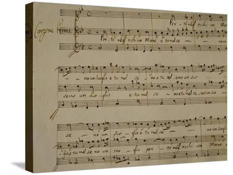 Autograph Sheet Music of Madrigal Songs and Chamber Arias for Two--Stretched Canvas Print