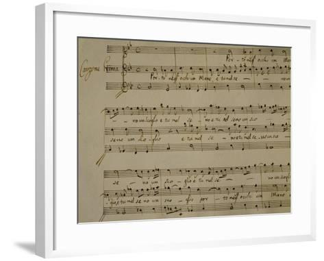 Autograph Sheet Music of Madrigal Songs and Chamber Arias for Two--Framed Art Print