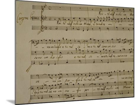 Autograph Sheet Music of Madrigal Songs and Chamber Arias for Two--Mounted Giclee Print