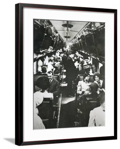 The Tourist Sleeper Car on 'The Denver Limited' of the Chicago--Framed Art Print