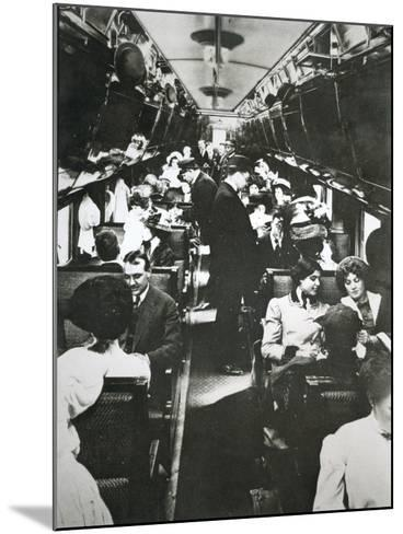 The Tourist Sleeper Car on 'The Denver Limited' of the Chicago--Mounted Photographic Print