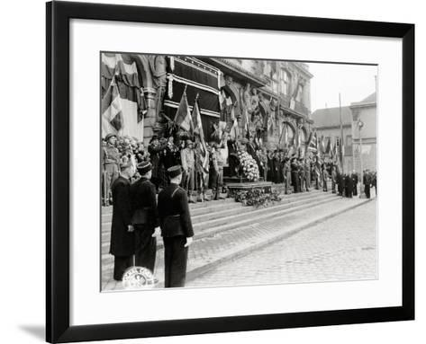 A Ceremony in Honour of Civilian Casualties Is Taking Place--Framed Art Print