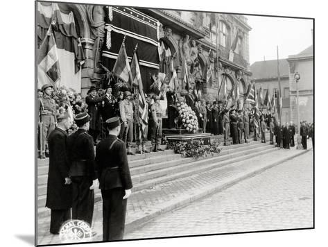 A Ceremony in Honour of Civilian Casualties Is Taking Place--Mounted Photographic Print