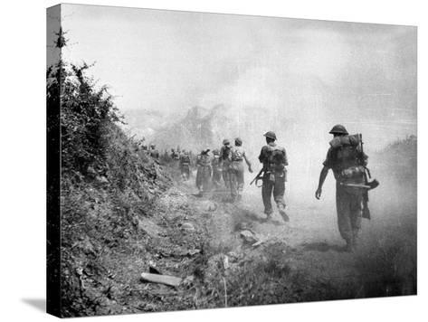 The 8th Army Attack on Monte Cassino During World War Two--Stretched Canvas Print