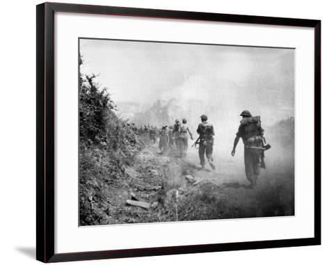 The 8th Army Attack on Monte Cassino During World War Two--Framed Art Print