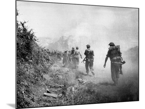 The 8th Army Attack on Monte Cassino During World War Two--Mounted Photographic Print