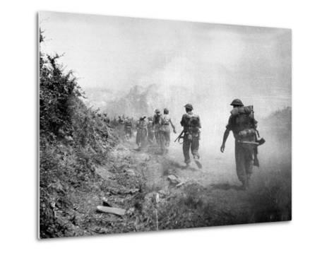 The 8th Army Attack on Monte Cassino During World War Two--Metal Print