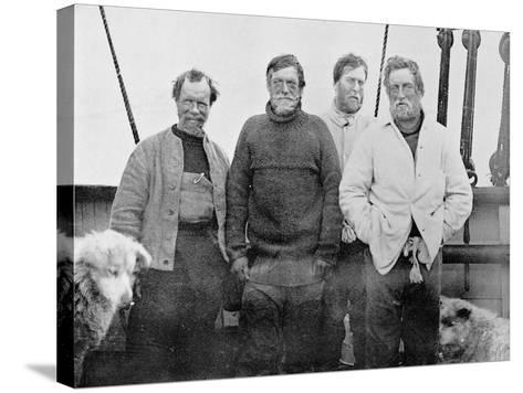 The Southern Party on Board the 'Nimrod'--Stretched Canvas Print