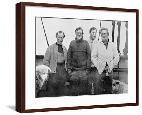 The Southern Party on Board the 'Nimrod'--Framed Art Print