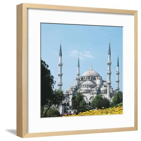 Mosque of Sultan Ahmet I known as Blue Mosque--Framed Art Print