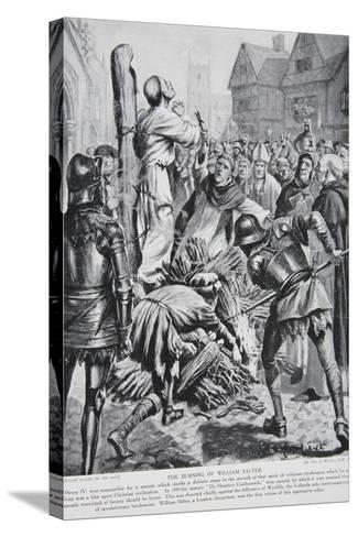 The Burning of William Sawtrey in 1401--Stretched Canvas Print