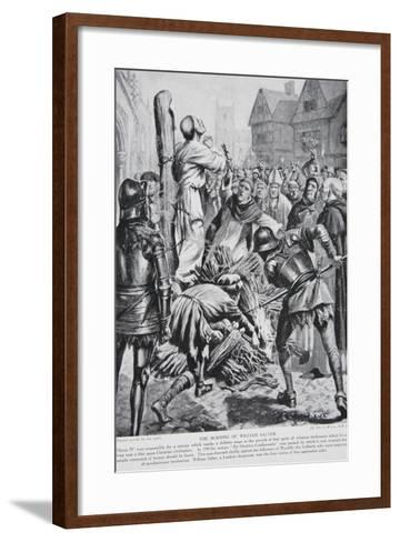 The Burning of William Sawtrey in 1401--Framed Art Print