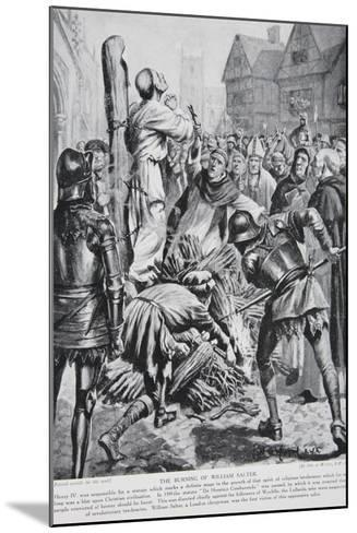 The Burning of William Sawtrey in 1401--Mounted Giclee Print