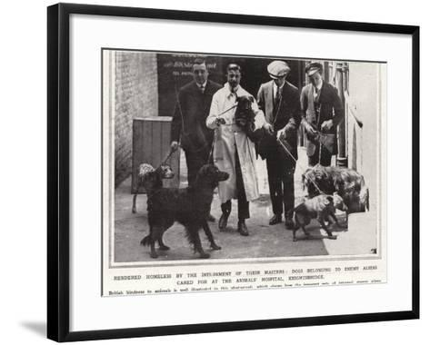 Rendered Homeless by the Internment of their Masters--Framed Art Print