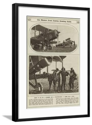 Our Western Front Daytime Bombing Raids--Framed Art Print