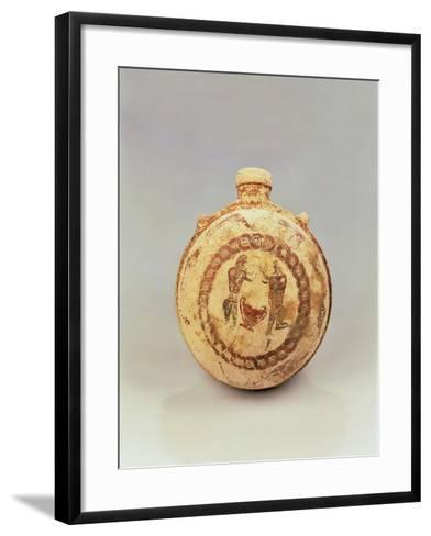 Lenticular Flask by the Pilgrim Flask Painter--Framed Art Print