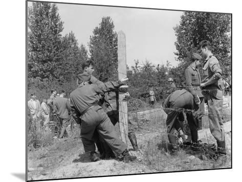 Closure of the Border at Kleinmachnow Near West Berlin--Mounted Photographic Print