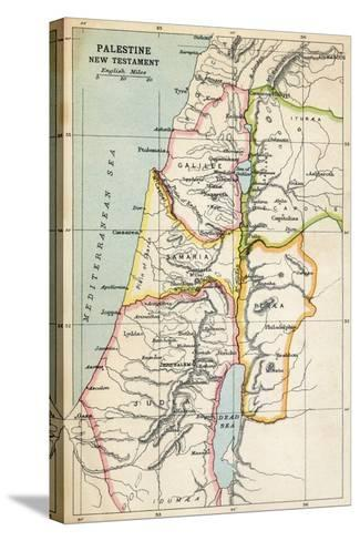 Map of Palestine as Described in the New Testament--Stretched Canvas Print