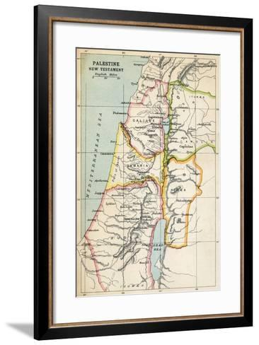 Map of Palestine as Described in the New Testament--Framed Art Print
