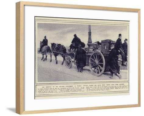 The Removal of the Belgian Government to France--Framed Art Print