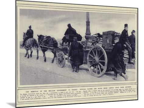 The Removal of the Belgian Government to France--Mounted Photographic Print