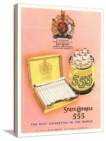 Advert for 'State Express 555' Cigarettes--Stretched Canvas Print