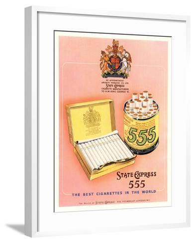 Advert for 'State Express 555' Cigarettes--Framed Art Print