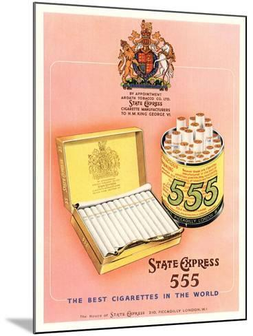 Advert for 'State Express 555' Cigarettes--Mounted Giclee Print