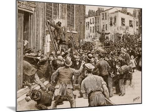 Scene in the Birmingham 'No Popery' Riots--Mounted Giclee Print