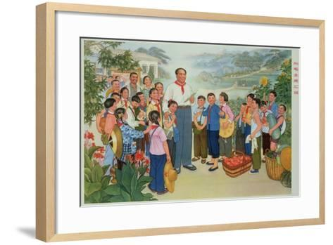 """""""Reporting Our Harvest to Chairman Mao""""--Framed Art Print"""