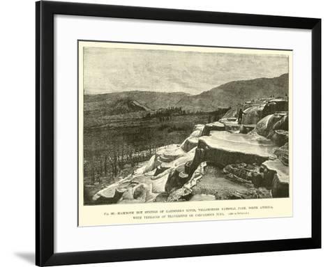 Mammoth Hot Springs of Gardiner's River--Framed Art Print