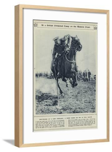 At a British Divisional Camp on the Western Front--Framed Art Print