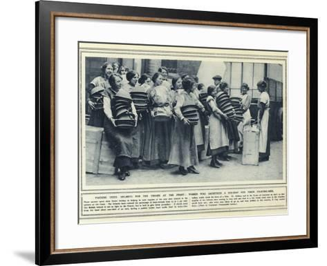 Packing Steel Helmets for the Troops at the Front--Framed Art Print