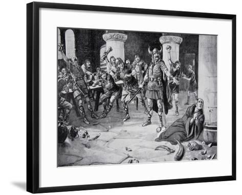 The Martyrdom of Alphege on Palm Sunday--Framed Art Print