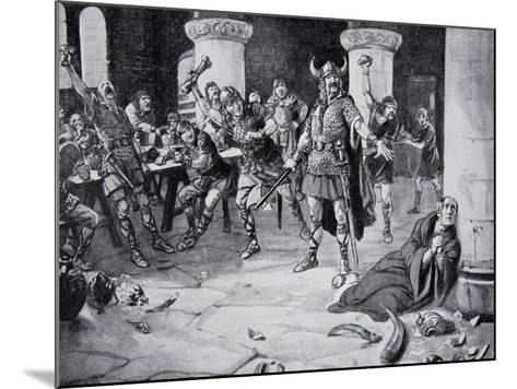 The Martyrdom of Alphege on Palm Sunday--Mounted Giclee Print