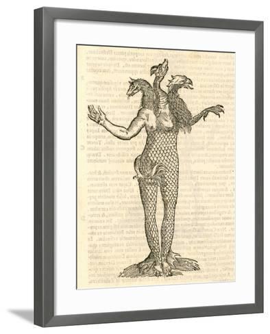"""Illustration of """"Monstrum Triceps Capite Vulpis--Framed Art Print"""